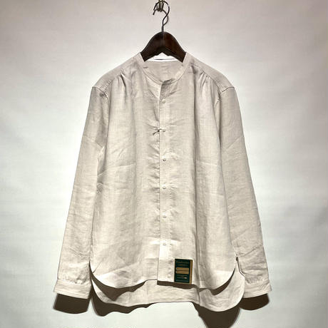 "ASEEDONCLOUD""Handwerker collarless  shirts"" (off white) unisex"