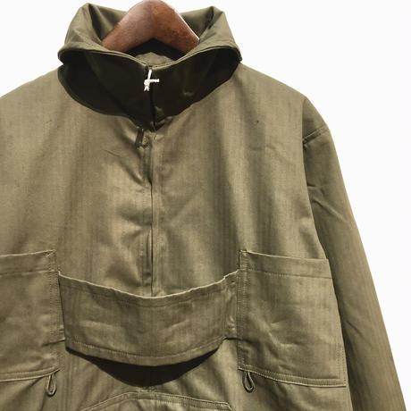 "Day One Camouflage ""9oz cotton herringbone hunting pullover shirts""(army green)unisex"