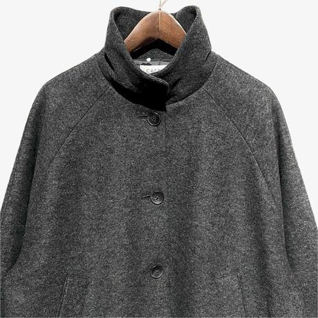"CAERULA""wool ring flare coat""(charcoal) women's"