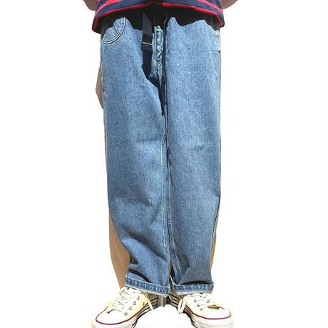 "TigreBrocante""12.75oz denim rail pants""(indigo fade)unisex"