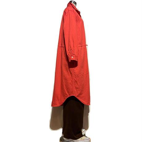 "TigreBrocante ""natural denim french strings onepiece""(orange) women's"