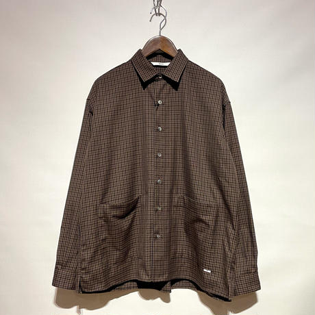 """amne """"CHECK""""covered shirts (brown) unisex"""
