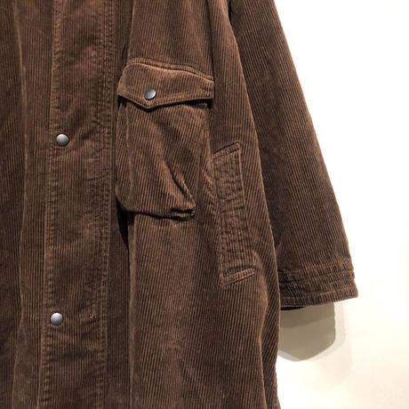 "H.UNIT ""corduroy gascape coat"" (brown) unisex"