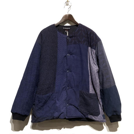 "TigreBrocante""lotus batting short rib jacket""(lt.navy)unisex(L) size"