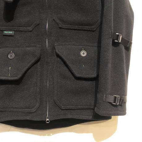 """Day One Camouflage """"hunting fleece jacket""""(black)unisex"""