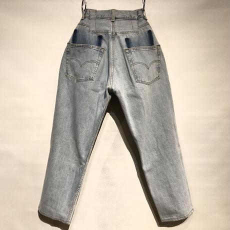 "KNIFEWING""USA501 remake buck cut wide pants""(B) women's"