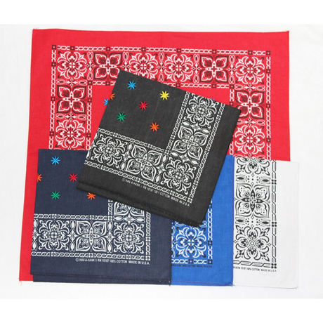 """KNIFEWING """"embroidery bandana""""(flower color)"""