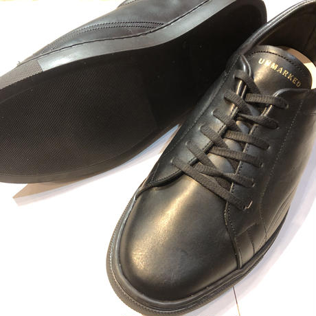 """UNMARKED """"alvin"""" black all leather (mens)"""