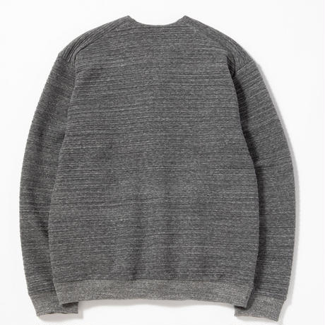 "Jackman""quilt sweat owners cardigan""(charcoal) unisex"