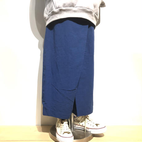 "TigreBrocante""high count typewriter rap pants""(blue)women's"