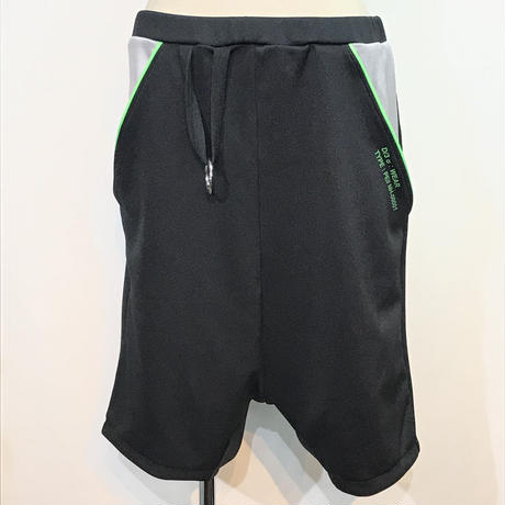 D/3/ディースリー ショートパンツ 黒×緑×グレー