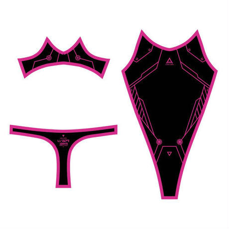 PredatorRat×D/3 「サイバーボディースーツ type P.R- X X」黒×ピンク