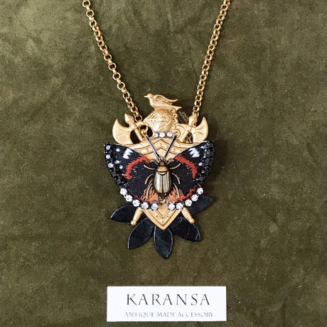 KARANSA/カランサ ヴィンテージ ロイヤルエンブレム2WAYネックレス&ブローチ KN-43