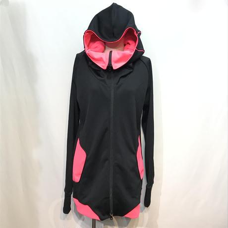 D/3/ディースリー ハイエンドパーカー 黒×ピンク