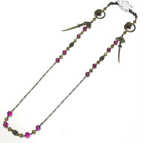 Phantom Jewelry/ファントムジュエリー 蝋燭と短刀のメガネチェーン 桃