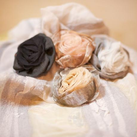 "corsage ""MURIEL GEOFFROY"" Handmade in France コサージュ ""ミュリエル・ジョフロイ″ フランス製ハンドメイド"