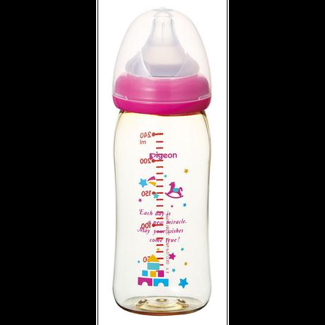 ピジョン 母乳実感哺乳びん プラスチック トイボックス柄 240mL