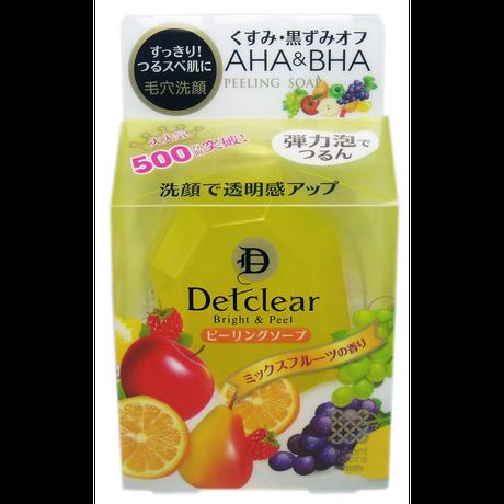 DETクリア ブライト&ピール ピーリングソープ (美容石鹸) ミックスフルーツの香り 100g