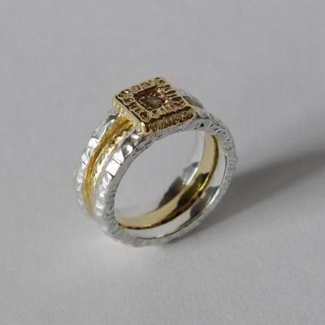 3way ring★(sv*brass)