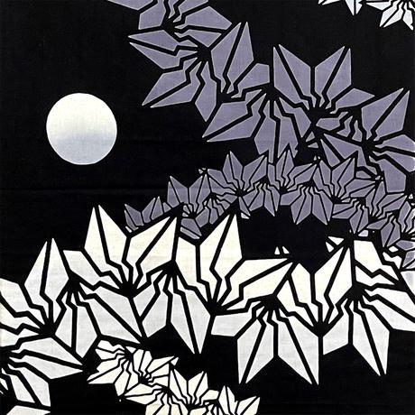 BAKIBAKI 注染てぬぐい (黒グラデ/オレンジ黒)
