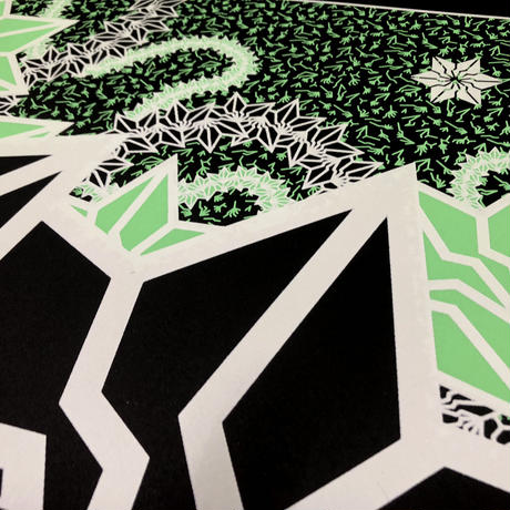 "BAKIBAKI screen print ""Luminetic River"" (額付)"
