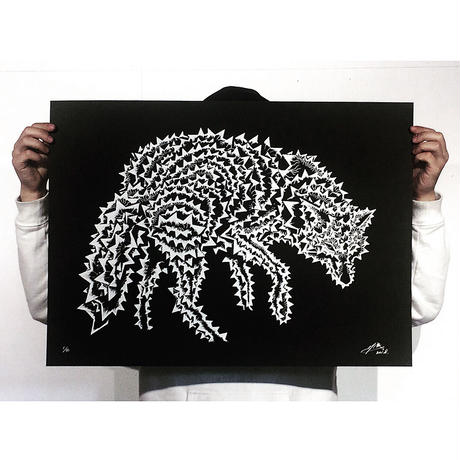 "ANIMAL SEQUENCE ""オオカミ/全身"" SCREEN PRINT(額付)"
