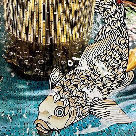 五色鯉(原画/額サイン付き)