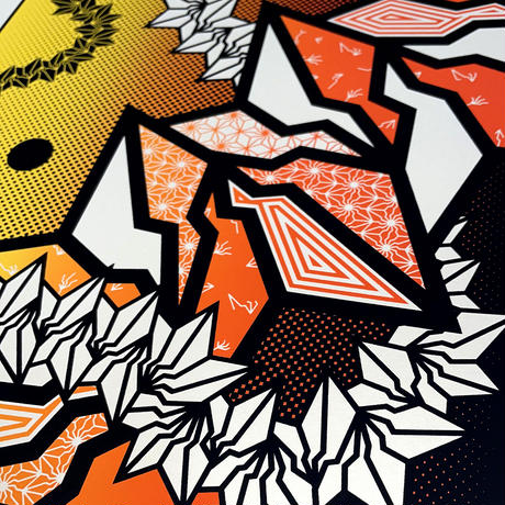 "BAKIBAKI screen print ""BAXPO SUNSET"" (額付)"