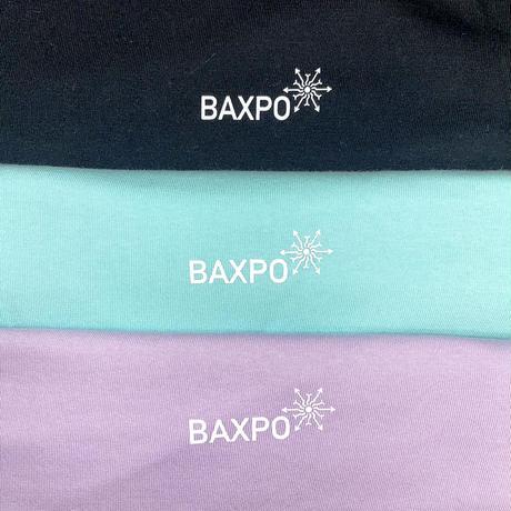 BAXPO 袖BAKI ロンTEE (ブラック / ラベンダー /ターコイズ)