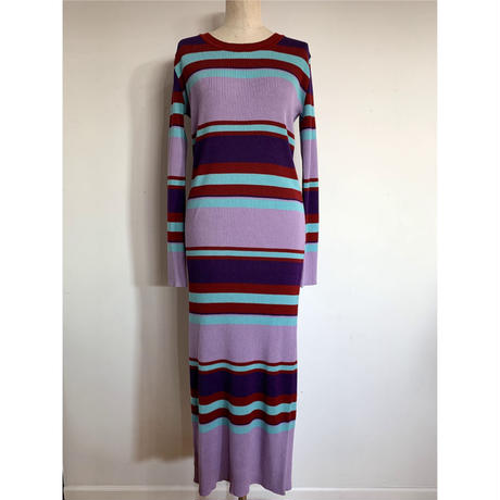 MULTI BORDER KNIT ONE PIECE