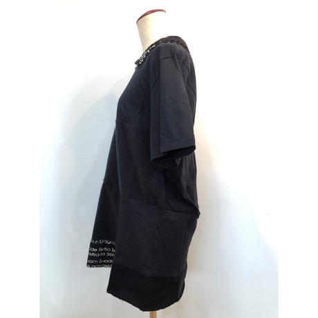 PATCH WORK T-SHIRTS ONE-PIECE