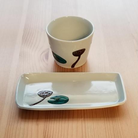 九谷焼 フリーカップ小 はす