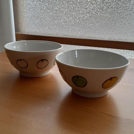 九谷焼 茶碗 白りんご