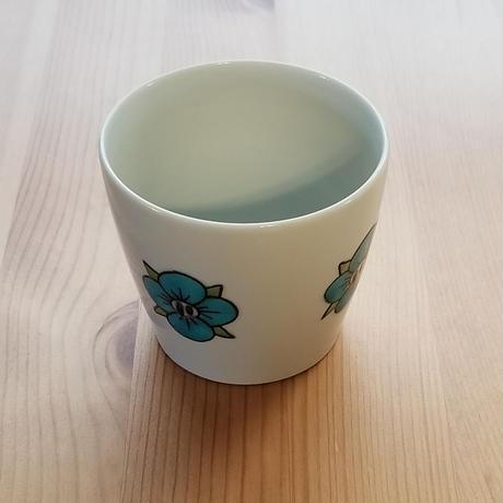 九谷焼 フリーカップ 梅・オオイヌノフグリ