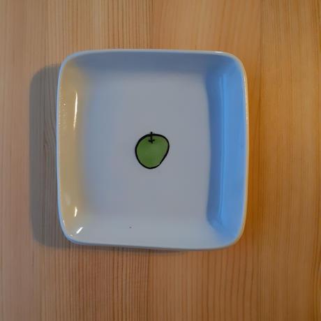 九谷焼 四角皿 小 青りんご·レモン他