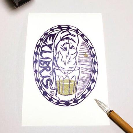 葉書3枚「ビールと猫」