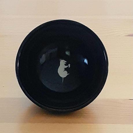 米ねずみ茶わん 黒・ ねずみ3柄