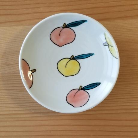 九谷焼 豆皿 青りんご・レモン・金柑・バナナ・桃・いちご