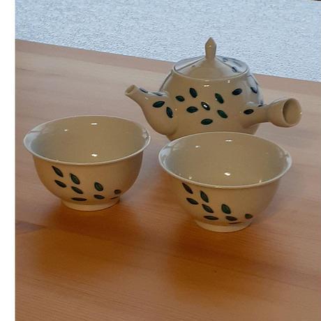 九谷焼 急須 葉柄3種