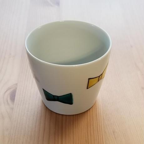 九谷焼 フリーカップ リボン・蝶々