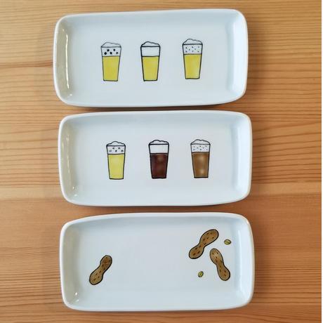 九谷焼 付きだし皿 生ビール・クラフトビール・ピーナッツ