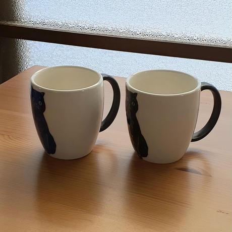 マグカップ大  黒・青