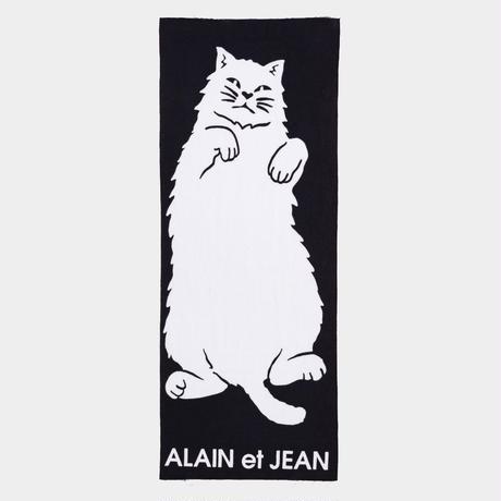 手ぬぐい(注染) 白猫