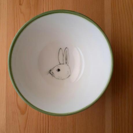 おわん  ウサギ