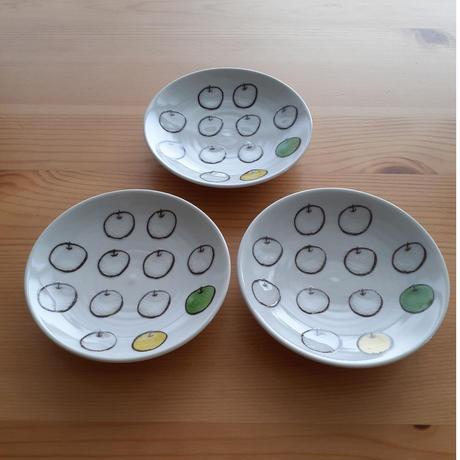 九谷焼 豆皿 白りんご
