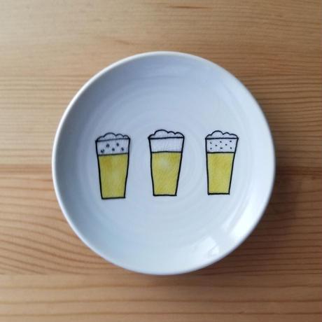 九谷焼 豆皿 生ビール・クラフトビール・ピーナツ・とうもろこし・梅・れんこん