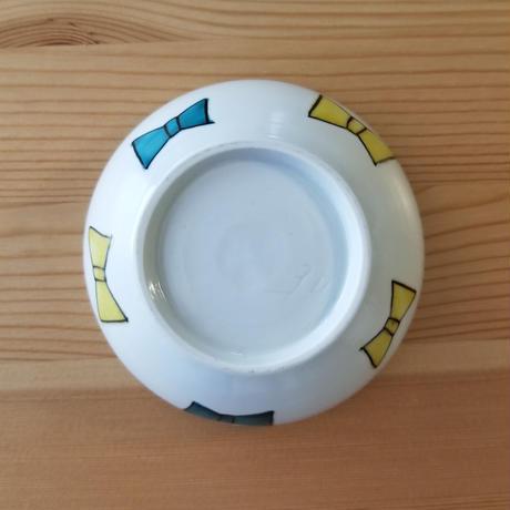 九谷焼 茶碗  ムスカリ・リボン