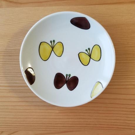九谷焼 豆皿 すずらん・蝶々・青パンジー・カーネーション・オオイヌノフグリ・クローバー