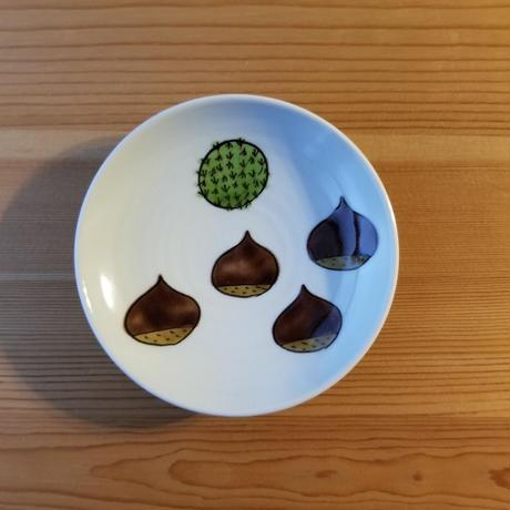 九谷焼 豆皿 さつまいも・くり・かぼちゃ・たけのこ・いちじく・はす
