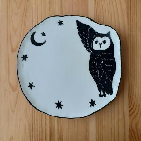 フクロウと星皿